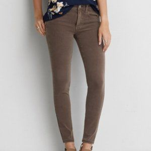 American Eagle Brown 360 Super Stretch Jeggings